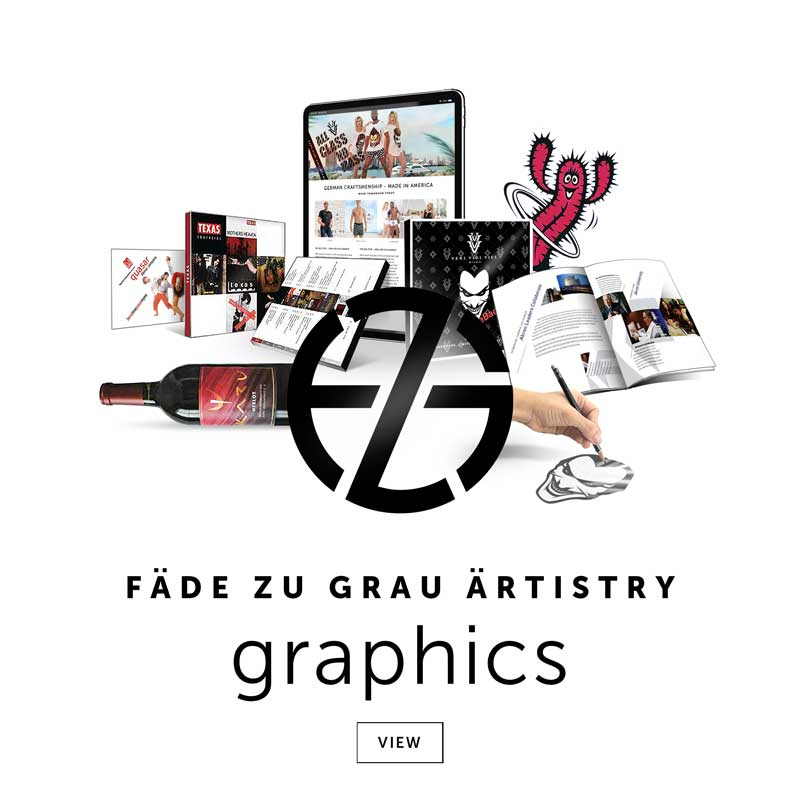 artist fade zu grau intro image for his graphic design portfolio