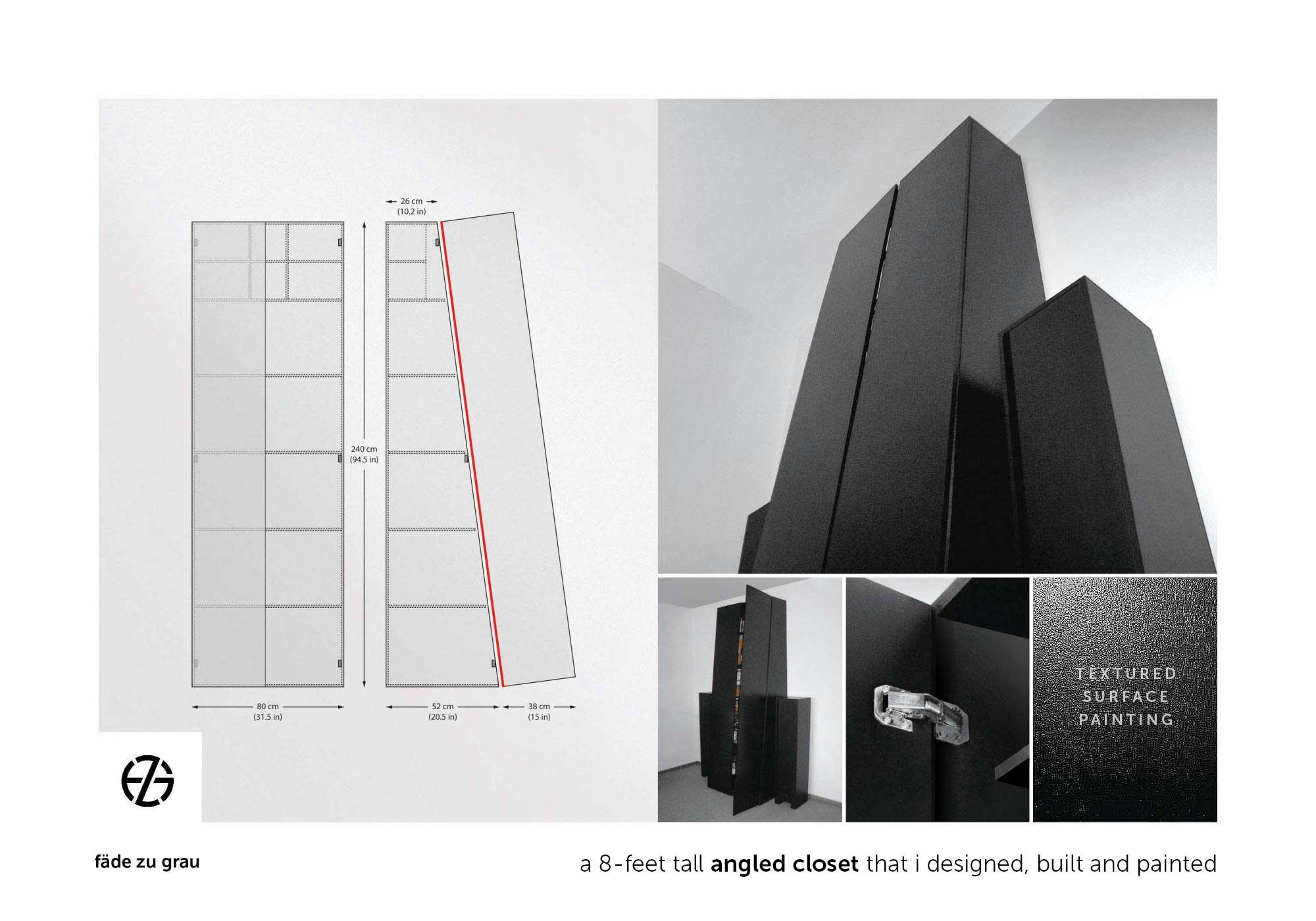 black closet designed and built by artist fade zu grau