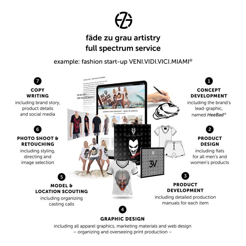 list of design services offered by artist fade zu grau