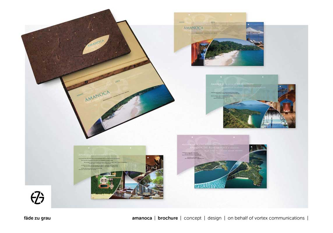 graphic design brochure for amanoca