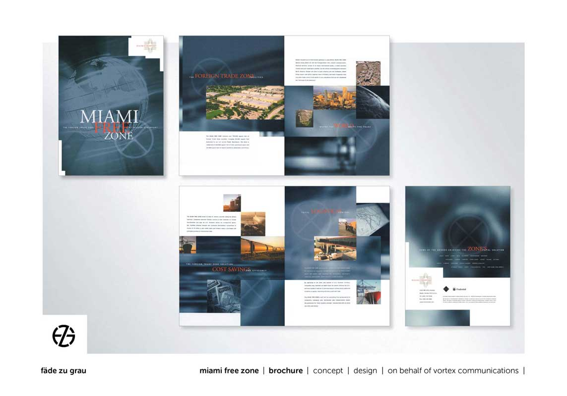 graphic design brochure for miami free zone