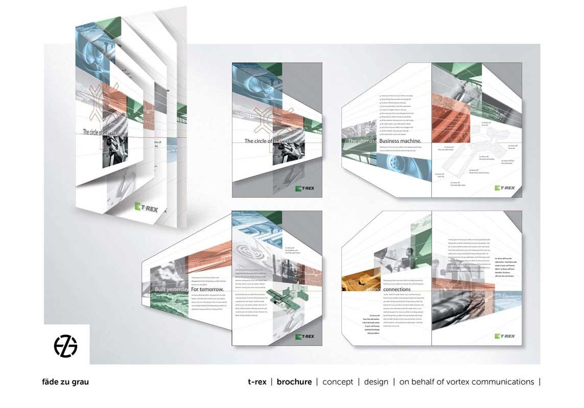 graphic design brochure for t-rex