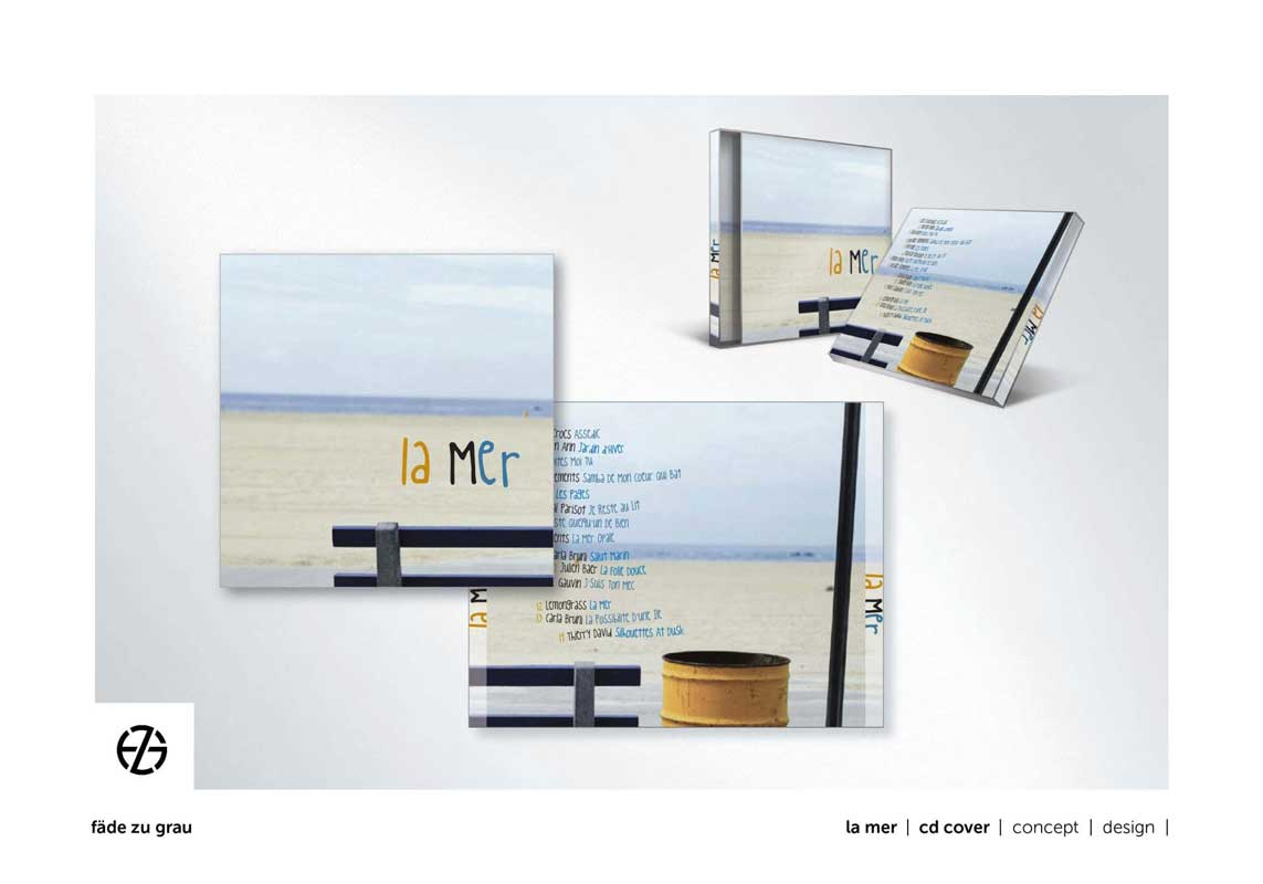 "graphic design cd cover titled ""la mer"""