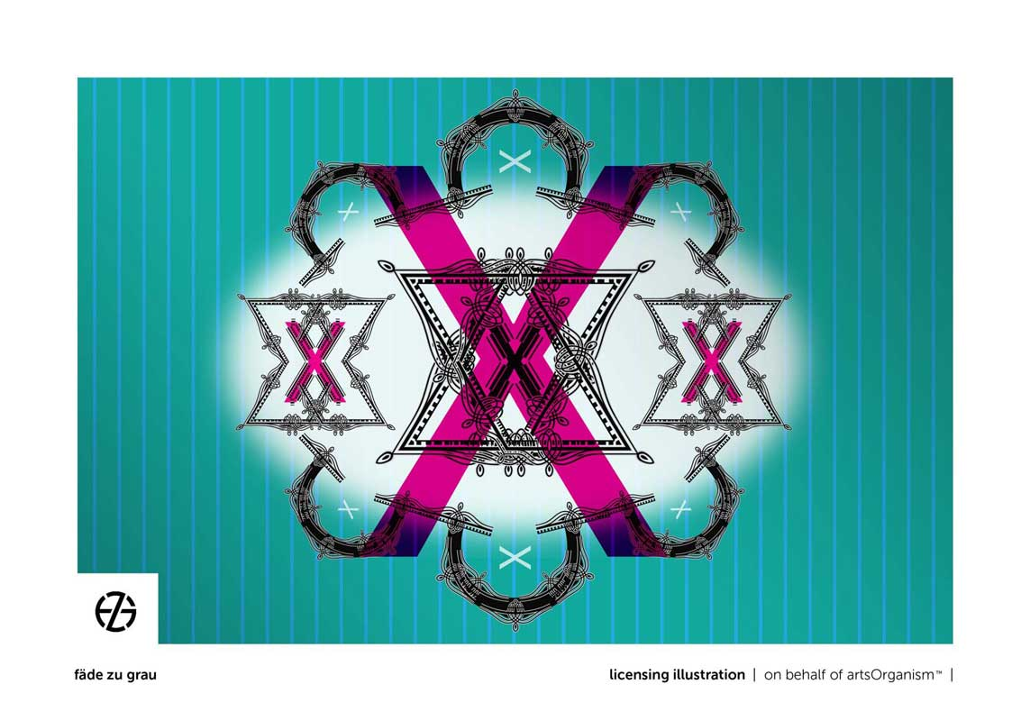 graphic design of the letter X