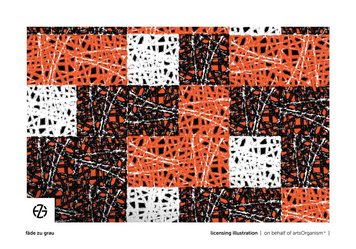 graphic design of plaid-like repeated shapes