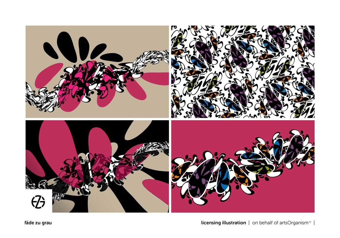 graphic design in organic colorful shapes