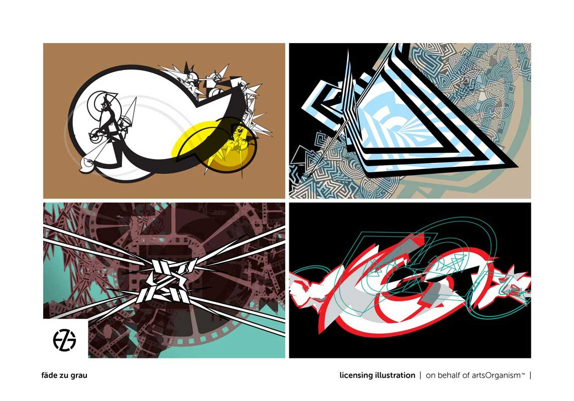 graphic design of contrasty geometric shapes