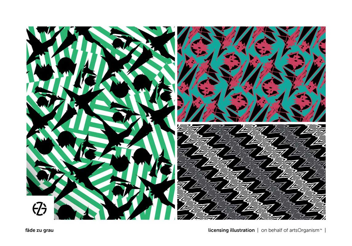 graphic design of contrasty shapes