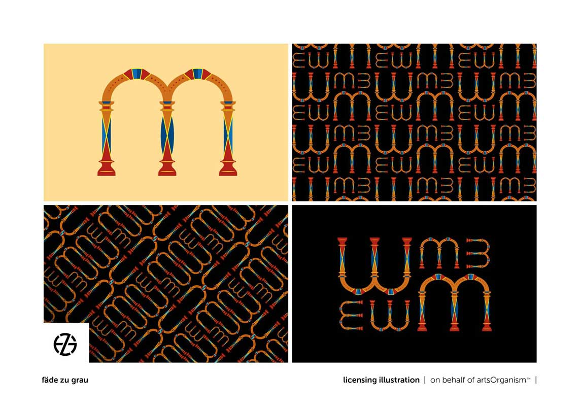 graphic design arch shapes spelling words