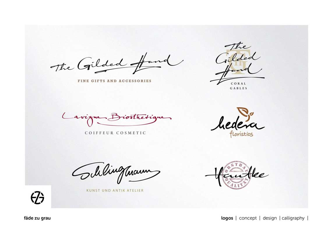graphic design handwritten logo samples