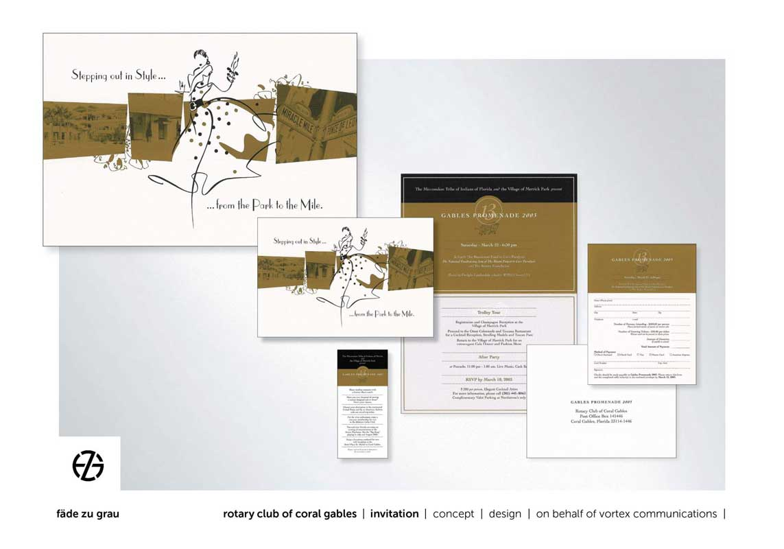 graphic design invitation package to a fashion show