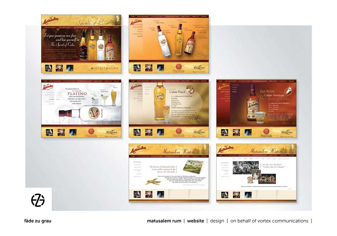 website design for matusalem rum