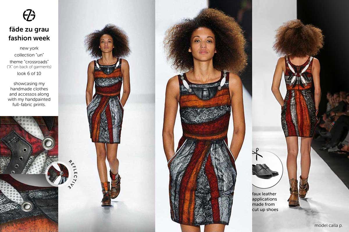 fade zu grau runway collection at new york fashion week, look 6