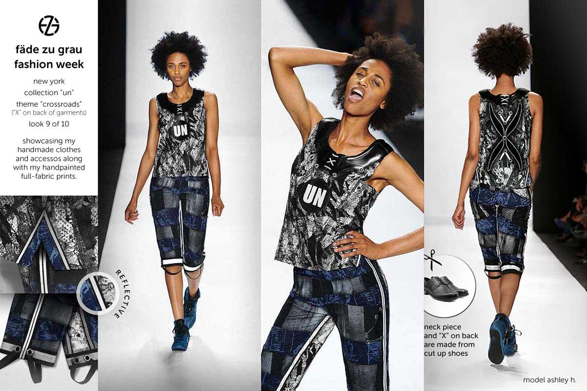 fade zu grau runway collection at new york fashion week, look 9
