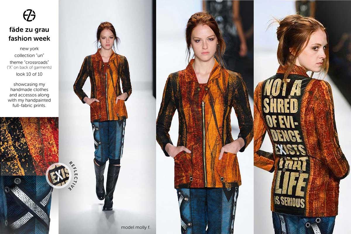 fade zu grau runway collection at new york fashion week, look 10