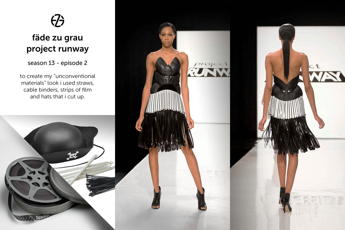 fade zu grau's look at project runway season 13, episode 2