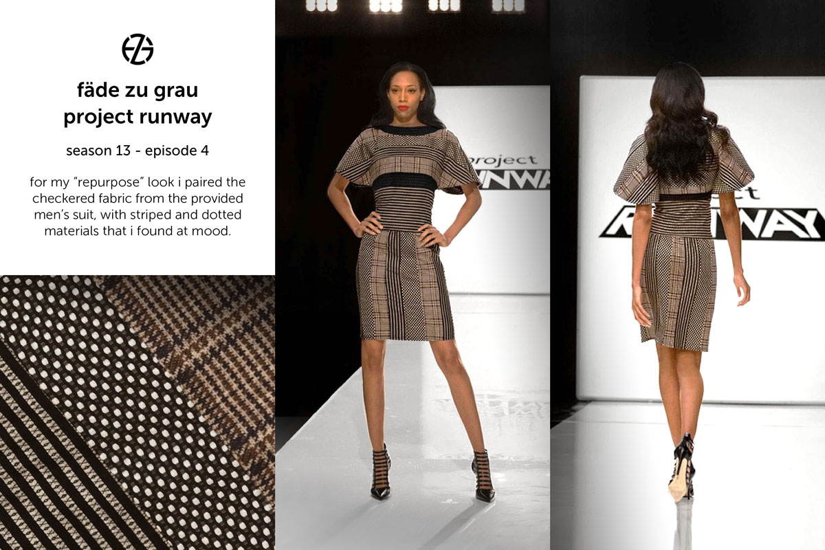 fade zu grau's look at project runway season 13, episode 4