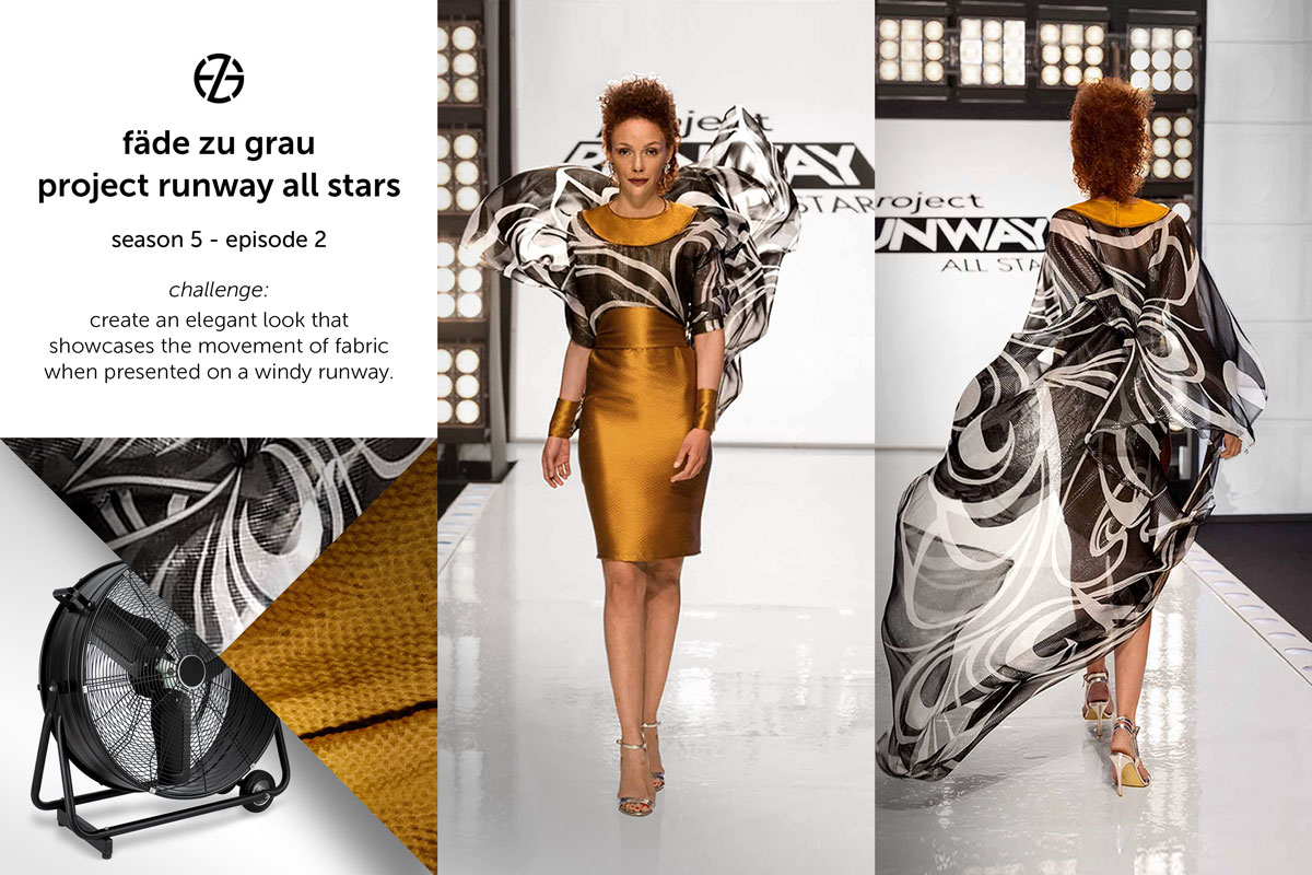 fade zu grau's look at project runway all stars season 5, episode 2