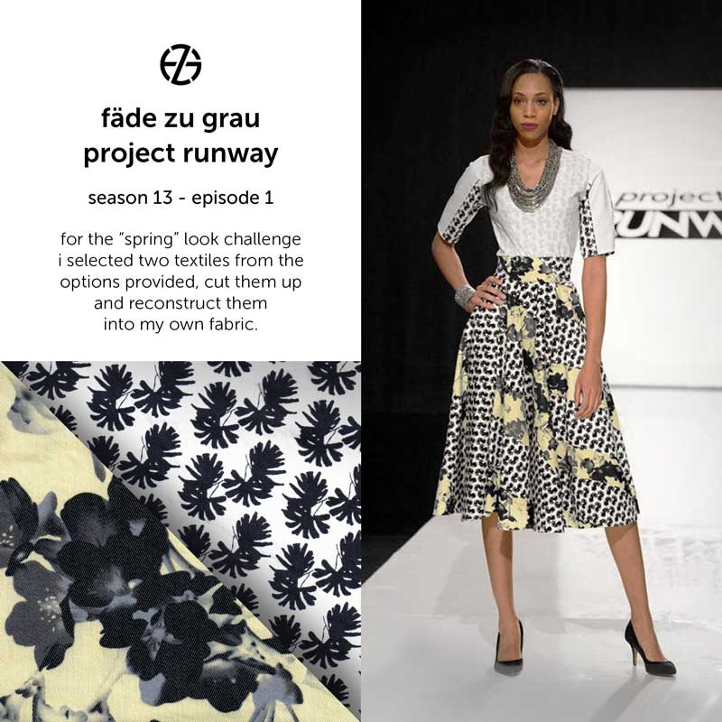 fade zu grau's look at project runway season 13, episode 1