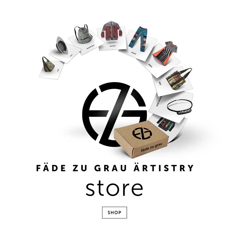 artist fade zu grau intro image for his fashion store